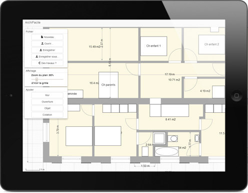 Plan de maison gratuit logiciel archifacile for Application plan de maison