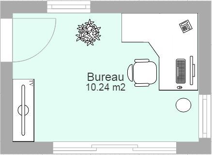 plan de bureau - Faire Croquis Appartement Entree Et Salon