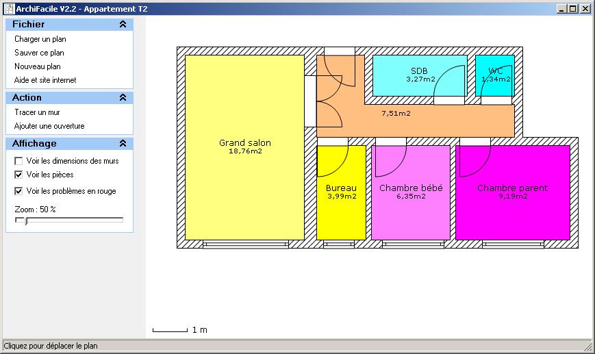Plan de maison et plan d 39 appartement gratuit logiciel archifacile for Plan amenagement maison gratuit