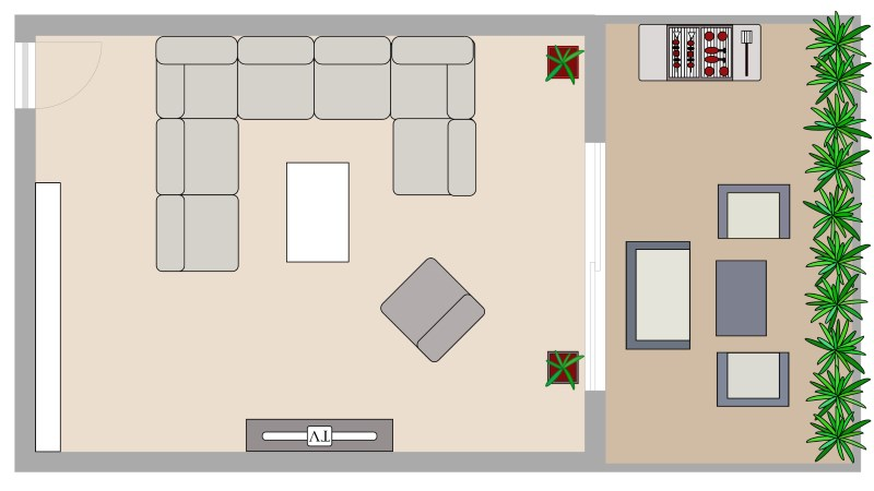 Dessiner un plan de salon avec archifacile for Dessiner plan patio
