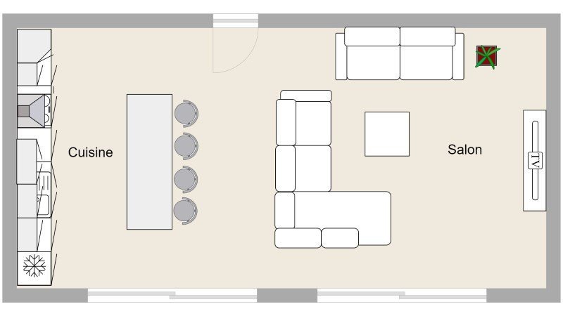 Dessiner un plan de salon avec archifacile for Salon layout plans