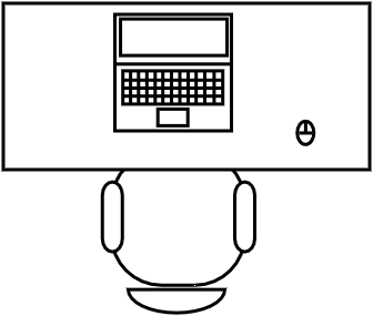 Bureau 100 x 50 cm for Bureau 50 cm de largeur