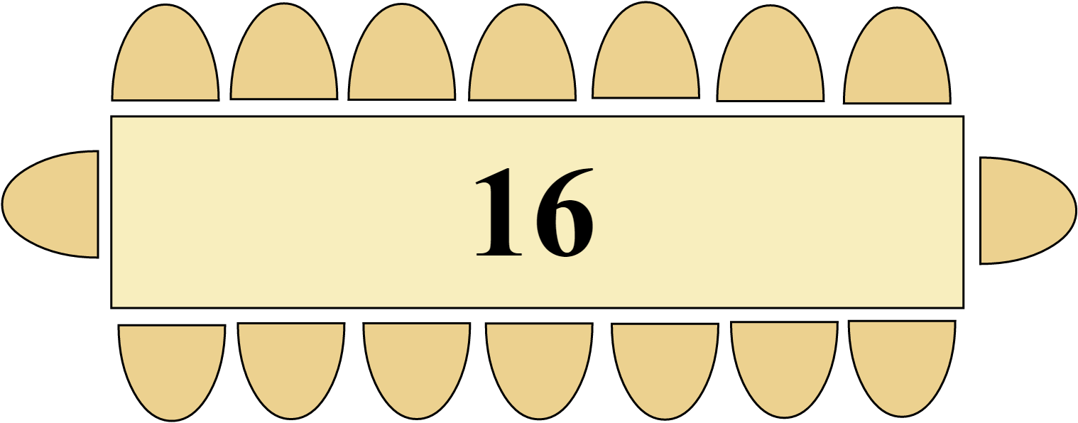 Table 4m 16 Personnes