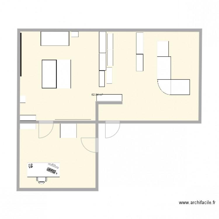 Nouveau bureau plan 1 pi ce 63 m2 dessin par sasdbv for Bureau petite taille