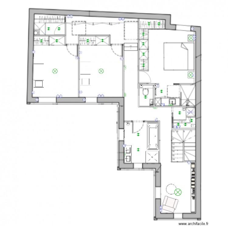 plan lectrique 1er plan dessin par herpin 40b. Black Bedroom Furniture Sets. Home Design Ideas