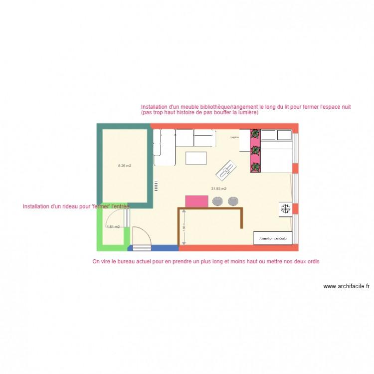 Plan Maison Essai 1 Plan 3 Pi Ces 40 M2 Dessin Par