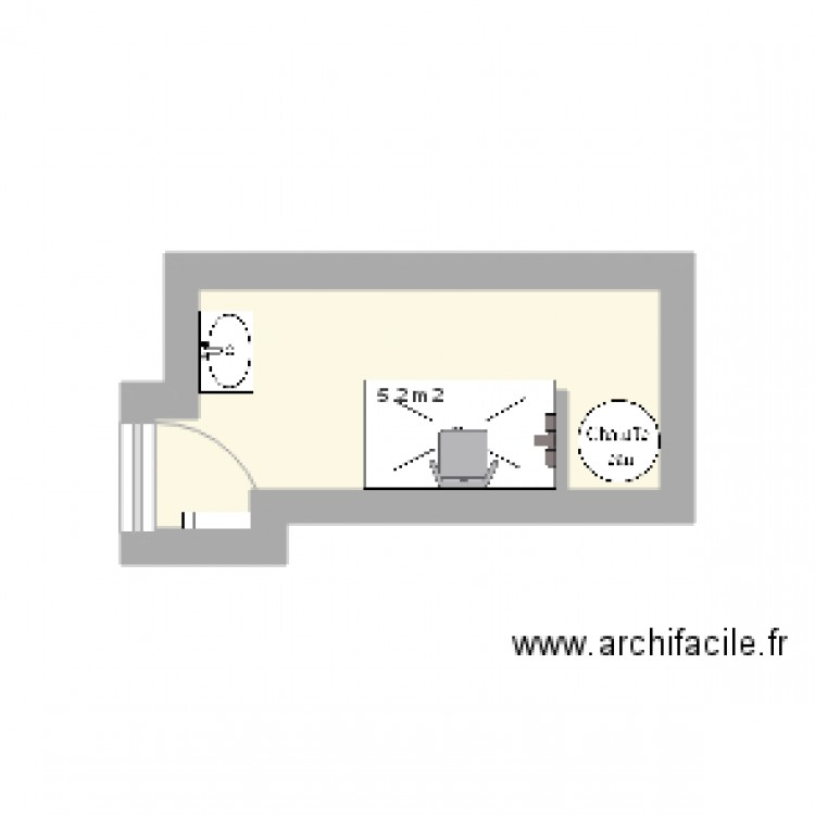 Projet sdb m maret plan 1 pi ce 5 m2 dessin par crrf - Plan sdb m ...