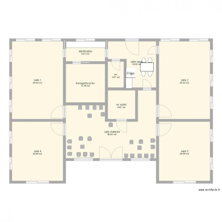 cabinet param dical plan 10 pi ces 209 m2 dessin par gars piouze. Black Bedroom Furniture Sets. Home Design Ideas
