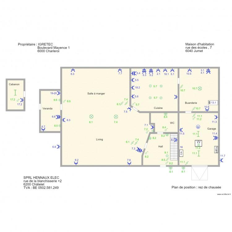 Ig2 plan 8 pi ces 354 m2 dessin par hennaux2004 - Consommation electrique moyenne maison 140 m2 ...
