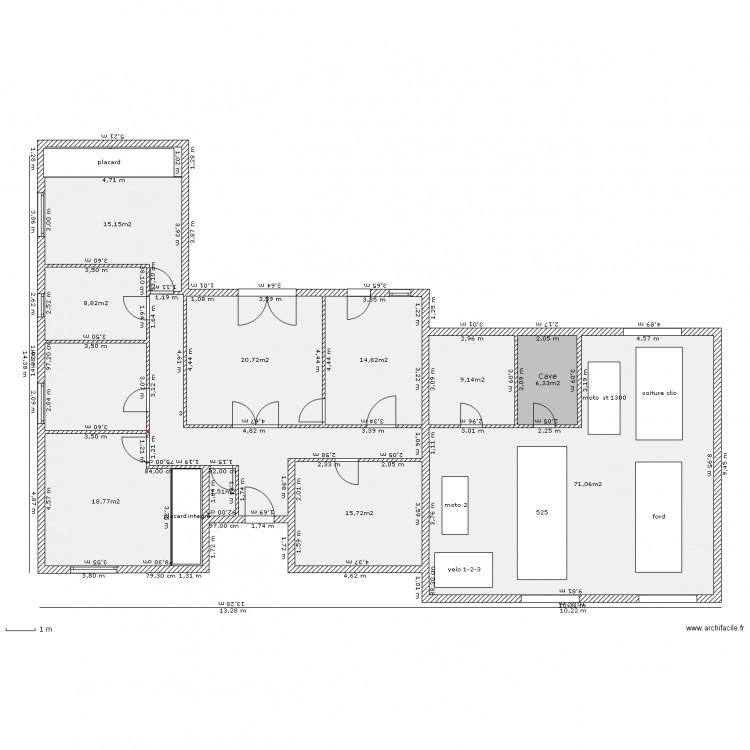Maison 5 pieces en l entr e abrit plan 13 pi ces 220 m2 for Plan de maison 5 pieces