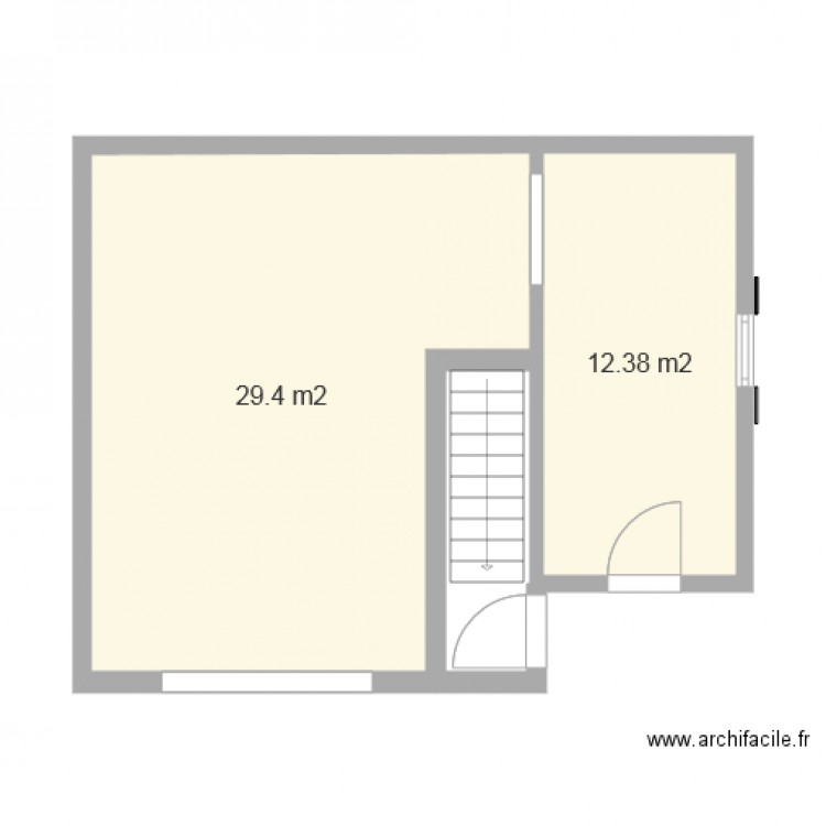 garage 1 voiture avec atelier 12 plan 2 pi ces 42 m2 dessin par fred03. Black Bedroom Furniture Sets. Home Design Ideas