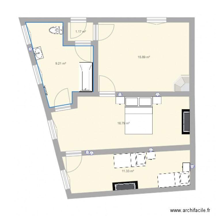 Salle De Bain Tage Plan 5 Pi Ces 54 M2 Dessin Par Bchaptal