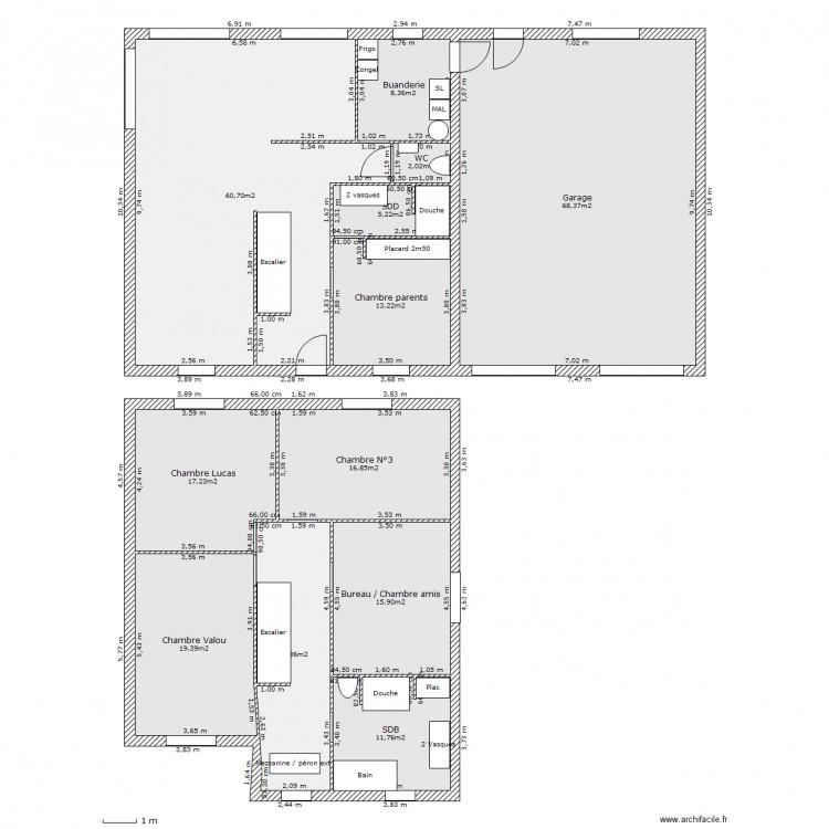 maison tip top famille 5 plan 12 pi ces 256 m2 dessin par chouchou51. Black Bedroom Furniture Sets. Home Design Ideas