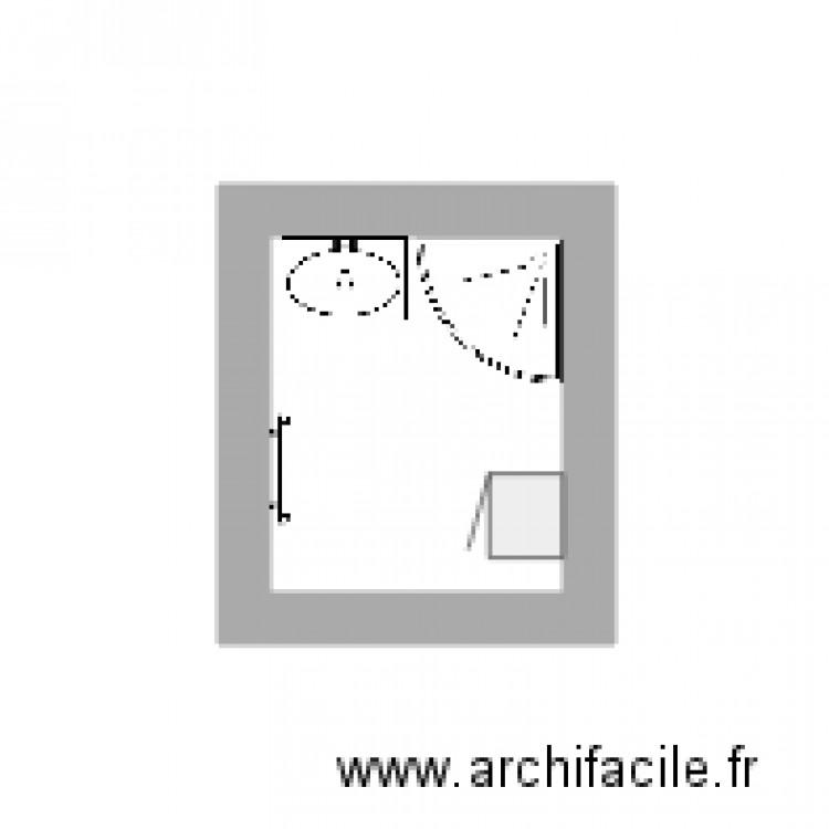 Salle de bain plan 1 pi ce 2 m2 dessin par jerlamoureux for Salle de bain 2 m2