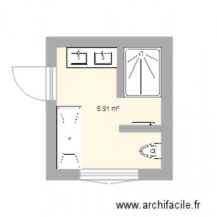 Salle de bain plan 1 pi ce 7 m2 dessin par tatalele24 - Salle de bain 7 m2 ...