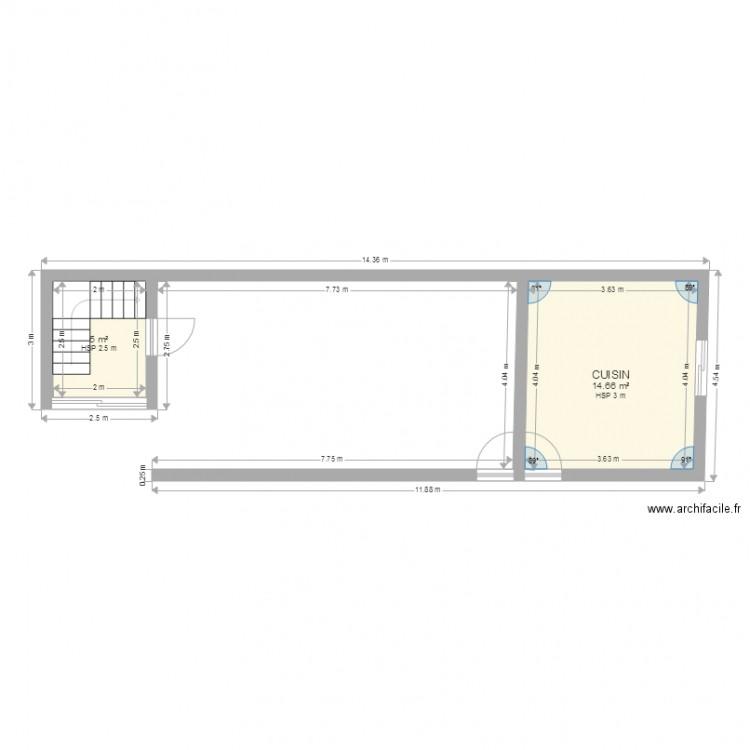 Ma maison plan 2 pi ces 20 m2 dessin par houda1986 for Dessine ma maison gratuitement