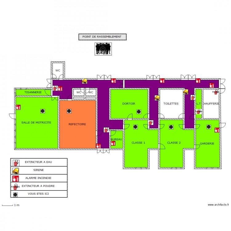 plan d 39 evacuation des locaux plan 24 pi ces 147 m2 dessin par mairie41. Black Bedroom Furniture Sets. Home Design Ideas