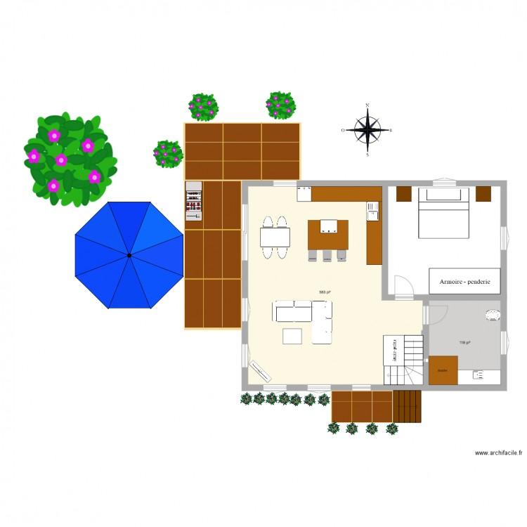 maison plan 2 pi ces 65 m2 dessin par sameve. Black Bedroom Furniture Sets. Home Design Ideas