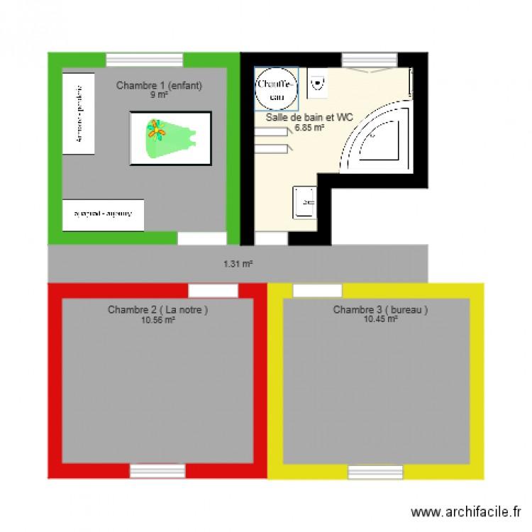 Plan futur maison 2 plan 2 pi ces 22 m2 dessin par marilyne - Plan de maison 2 pieces ...