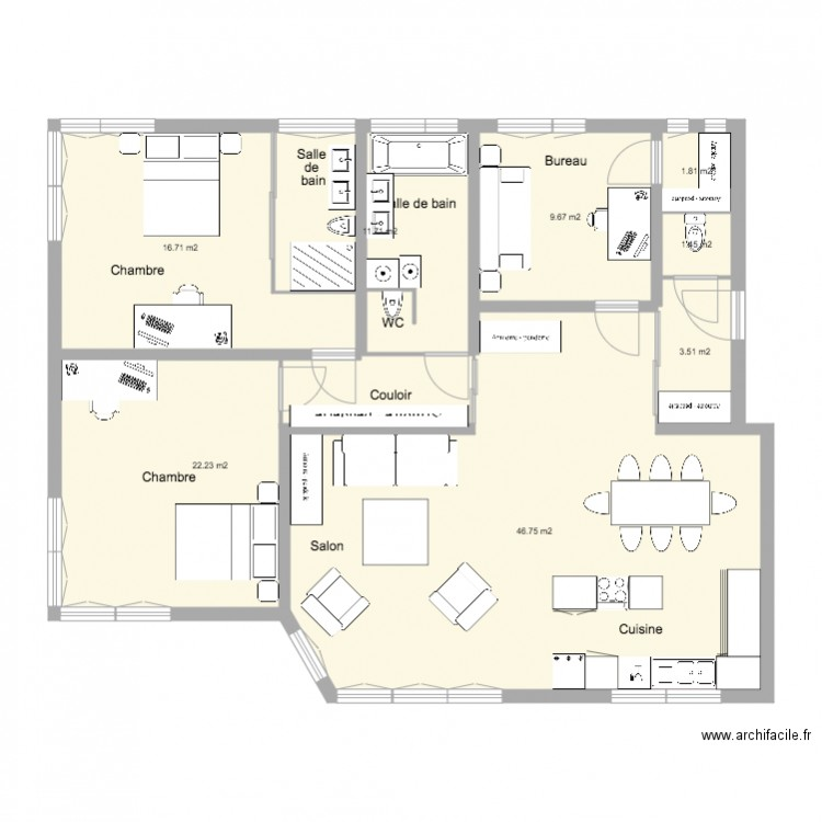 appartement cuisine americaine appartement 3 pieces cuisine americaine faux mitula. Black Bedroom Furniture Sets. Home Design Ideas