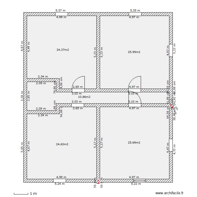 Plan Maison 80M2. Elegant Projet Maison M Romain Plan De Pice Et M