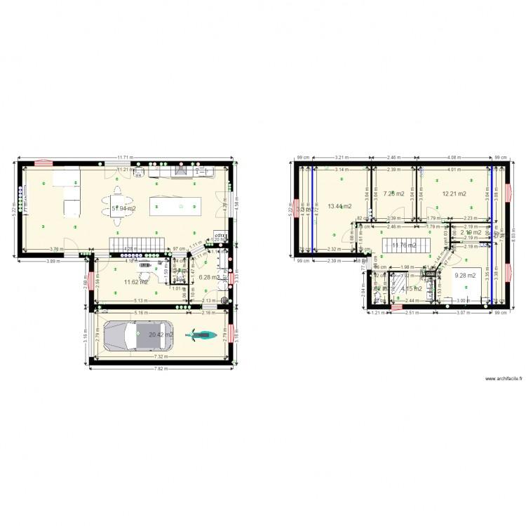 Projet2 plan 16 pi ces 162 m2 dessin par dirme for 162 plan
