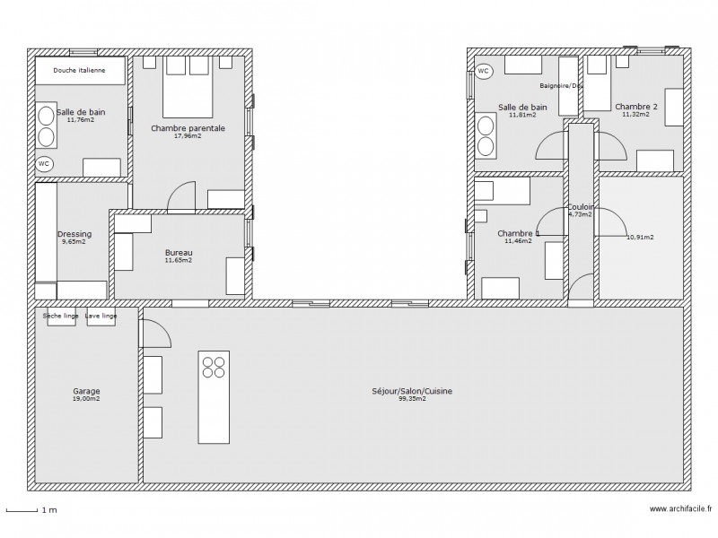 plan de maison f4 avec garage ventana blog. Black Bedroom Furniture Sets. Home Design Ideas
