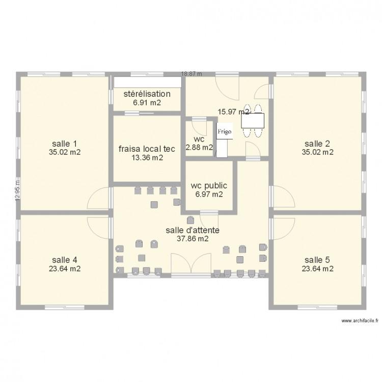 cabinet param dical plan 10 pi ces 201 m2 dessin par gars piouze. Black Bedroom Furniture Sets. Home Design Ideas