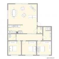 PROJET APPARTEMENT MEUBLE 3 CHAMBRES