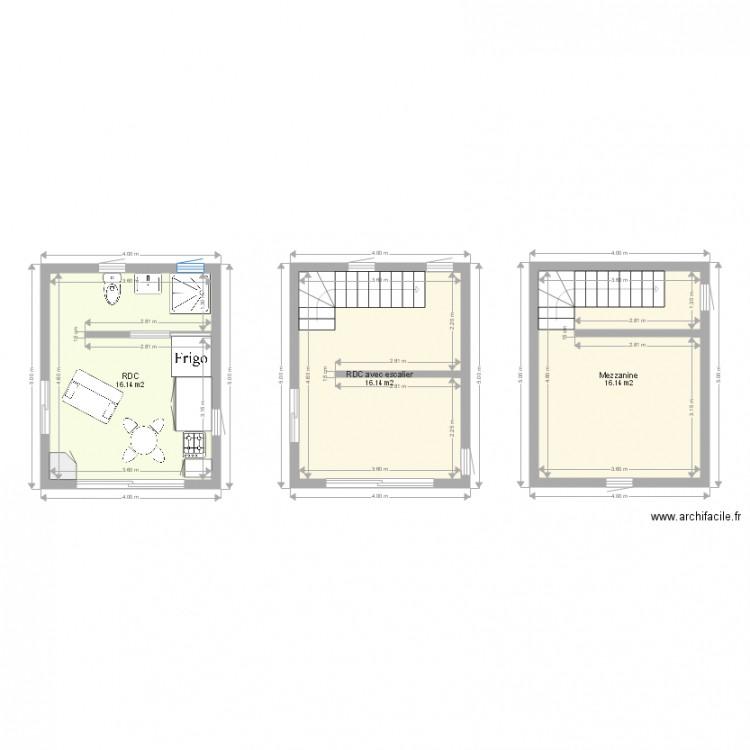 Bungalow 20m2 Avec Mezzanine Plan 3 Pi Ces 48 M2 Dessin
