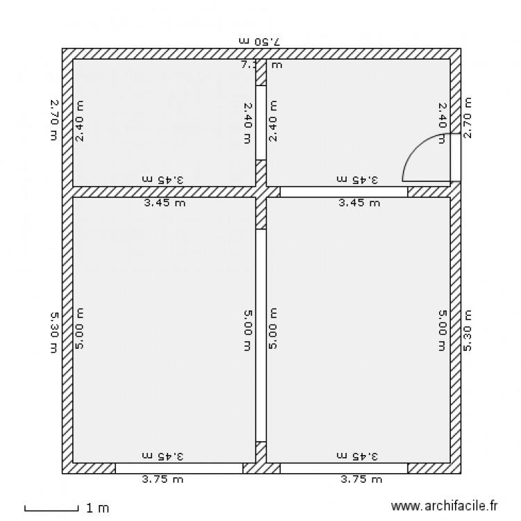 Garage double avec atelier plan 3 pi ces 51 m2 dessin for Garage 40m2