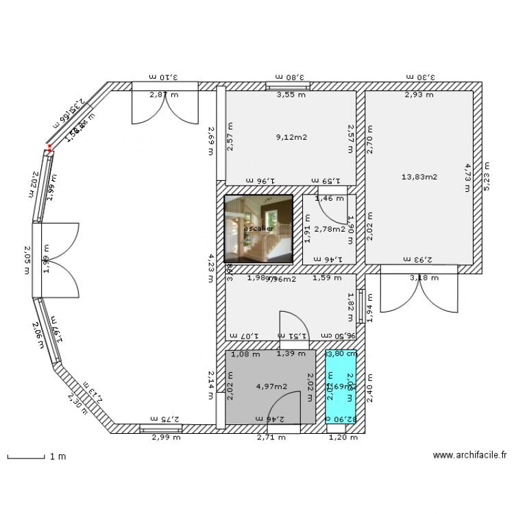 Maison Bioclimatique Bois  Plan  Pices  M Dessin Par Motard