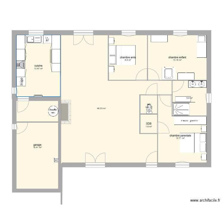 plan de maison 9 pieces