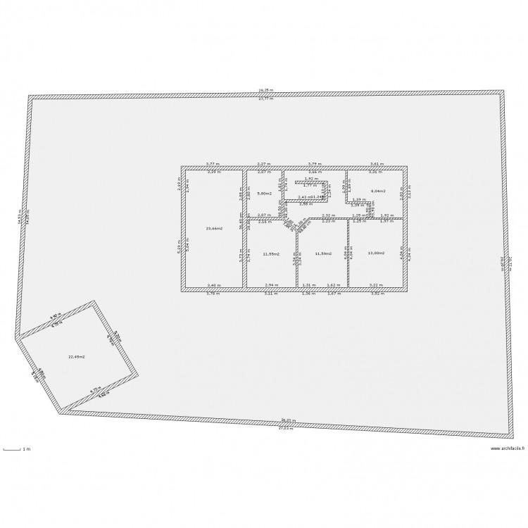 terrain maison 60 metres carr 2 plan 9 pi ces 625 m2 dessin par laetitia38. Black Bedroom Furniture Sets. Home Design Ideas