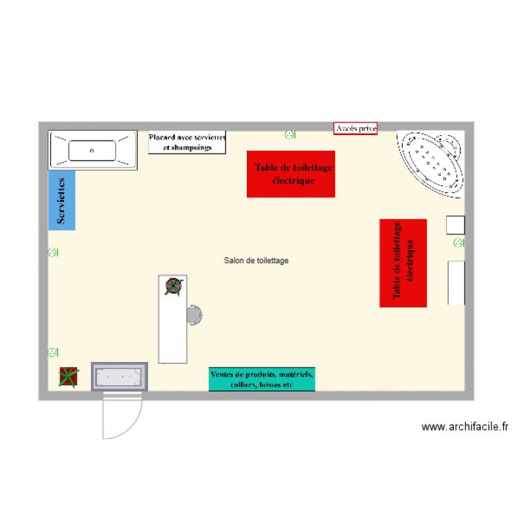 Salon de toilettage plan 1 pi ce 58 m2 dessin par sparrowtu for Salon de toilettage paris
