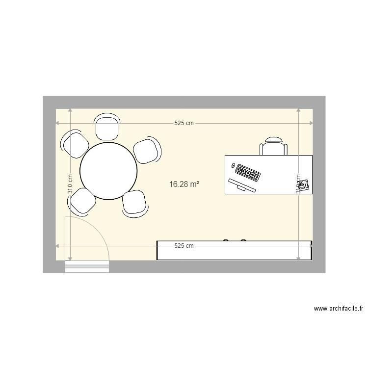 Bureau ceo plan 1 pi ce 16 m2 dessin par nicotheys for Nombre de m2 par personne bureau
