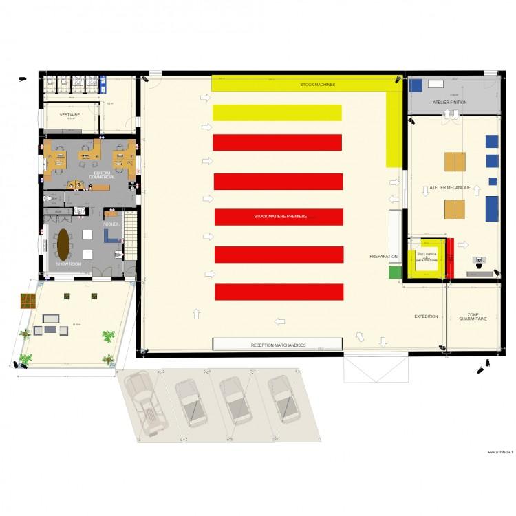 dorlet tunisie bureaux plan 20 pi ces 852 m2 dessin par yann. Black Bedroom Furniture Sets. Home Design Ideas