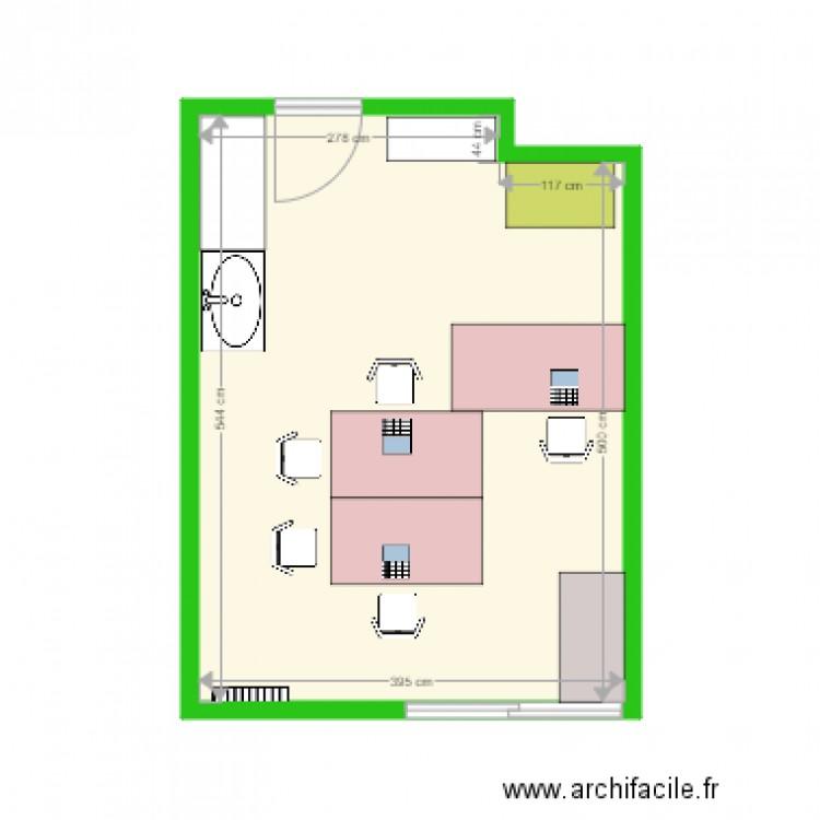 Bureau medical plan 1 pi ce 21 m2 dessin par ker lenn for Nombre de m2 par personne bureau