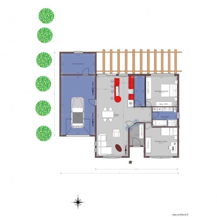 maison de r ve riri et dan 2 plan 8 pi ces 140 m2 dessin par rinyff. Black Bedroom Furniture Sets. Home Design Ideas