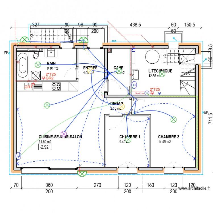plan electrique rez inferieur2 plan dessin par msprod. Black Bedroom Furniture Sets. Home Design Ideas