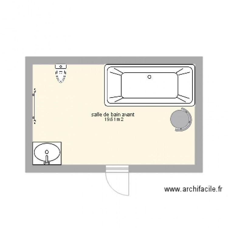 Salle De Bain Plan 1 Pi Ce 20 M2 Dessin Par Lucie14260