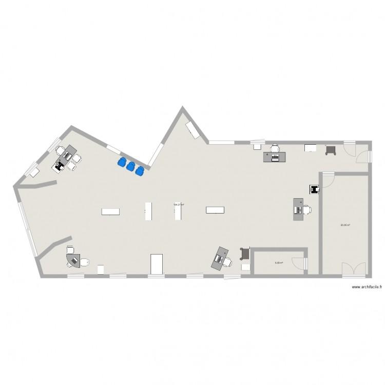 bureau de poste plan 3 pi ces 189 m2 dessin par margotba. Black Bedroom Furniture Sets. Home Design Ideas