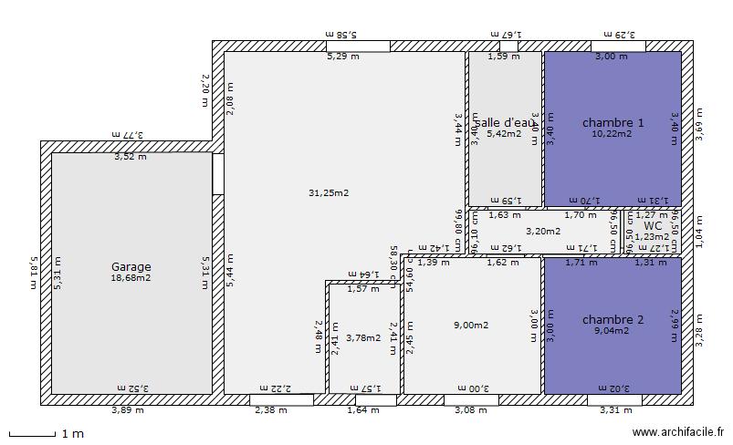 Plan maison 80m2 de 9 pi ces et 92 m2 pictures for Plan maison 80m2