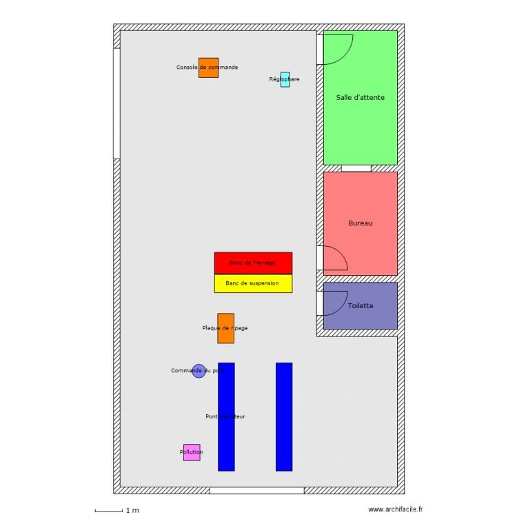 plan du centre de contr le technique plan 4 pi ces 169 m2 dessin par diabla972. Black Bedroom Furniture Sets. Home Design Ideas