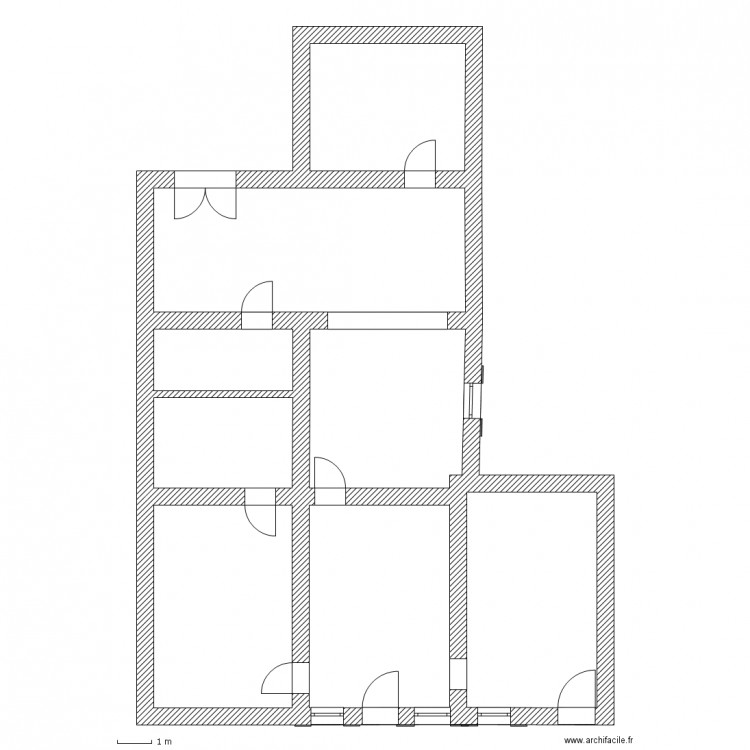 Très maison rdc vierge - Plan 8 pièces 161 m2 dessiné par gaucho12345 SI89
