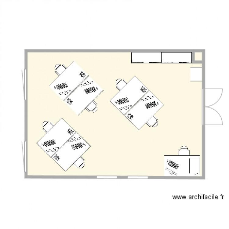 New bureau plan 2 pi ces 33 m2 dessin par framboisette77 for Bureau petite taille