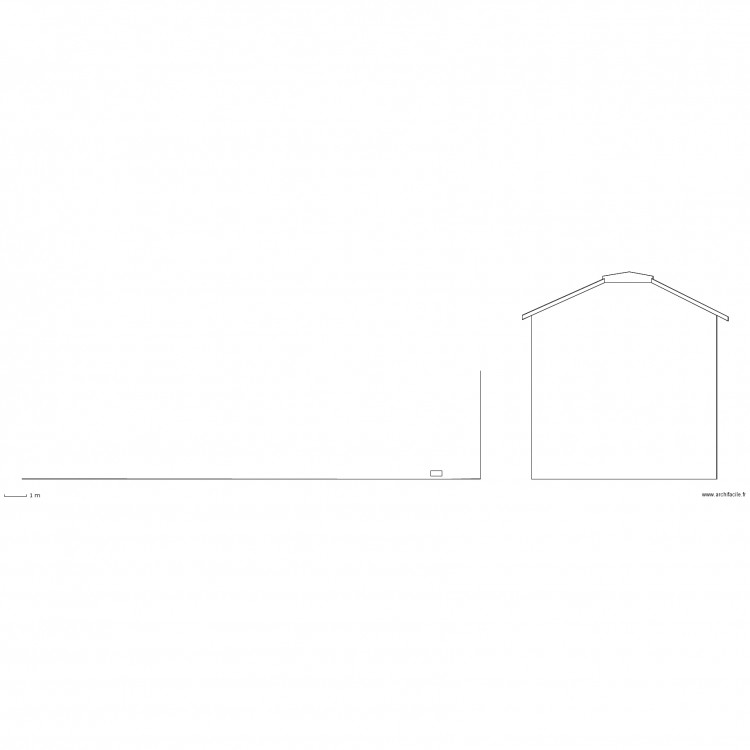 Dp4 plan des facades et des toitures plan 4 pi ces 73 m2 dessin par noelauray - Plan des facades et des toitures ...