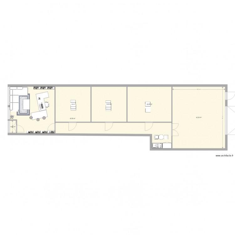Buro rabso plan 6 pi ces 141 m2 dessin par rabso for Buro en ligne