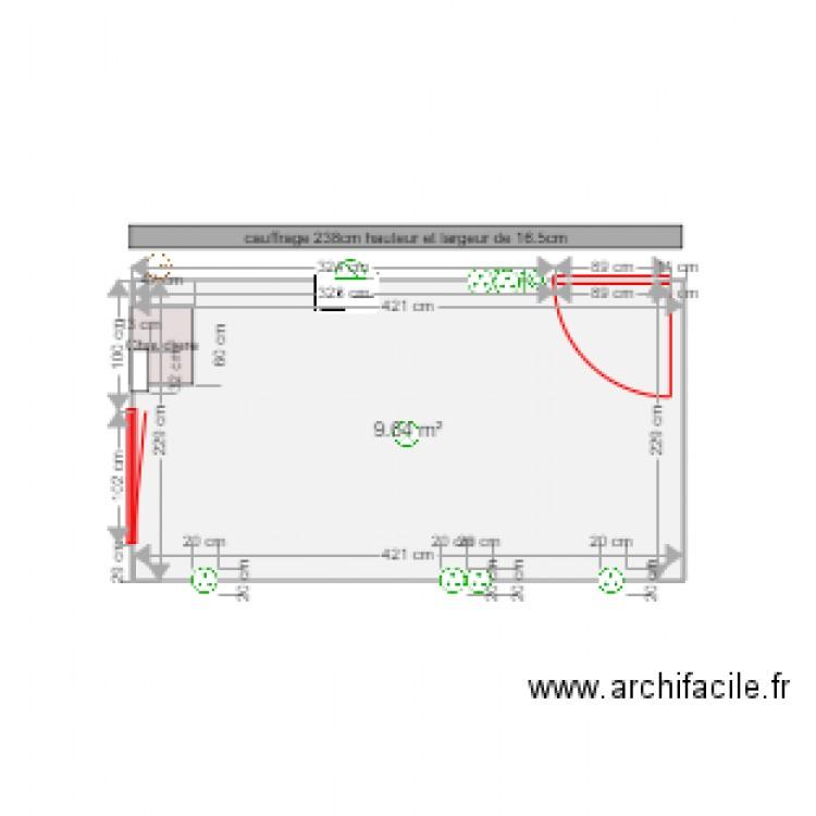 cuisine plan 1 pi ce 10 m2 dessin par brolee77. Black Bedroom Furniture Sets. Home Design Ideas