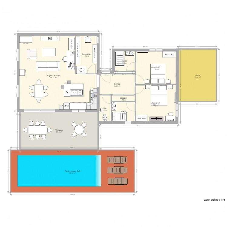 plan maison 2 plan 12 pi ces 185 m2 dessin par jojogwada. Black Bedroom Furniture Sets. Home Design Ideas